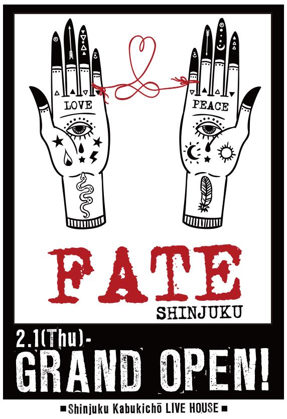 新宿歌舞伎町にライブハウス「新宿FATE」がグランドオープン!